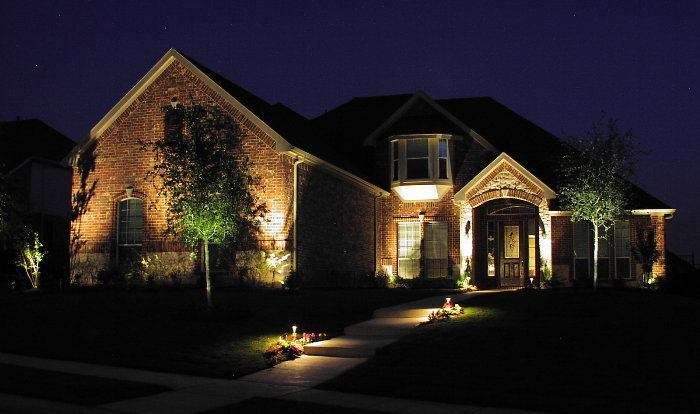Landscape lighting aqua turf for Building exterior lighting design